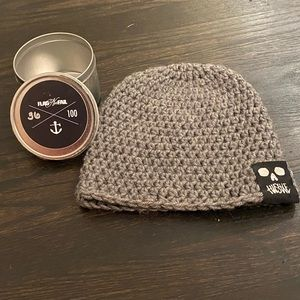 Flag NorFail Limited Edition Hand Knit Grey Beanie